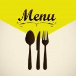 menu card wording