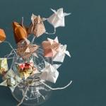 origami flower vintage