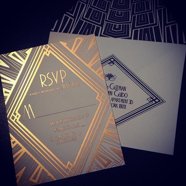Wedding Invitations Art Deco 2