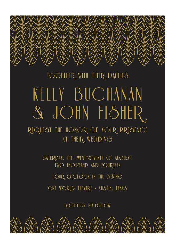 Wedding Invitations Art Deco 6