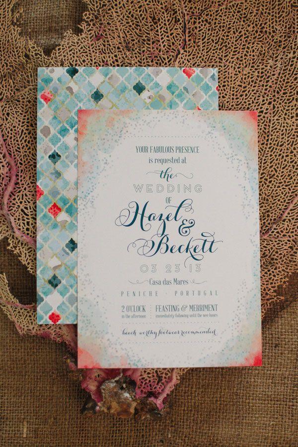 Beach Wedding Theme Invitations to Love 12