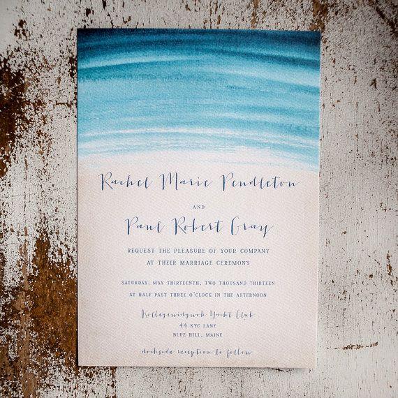 Beach Wedding Theme Invitations to Love 2