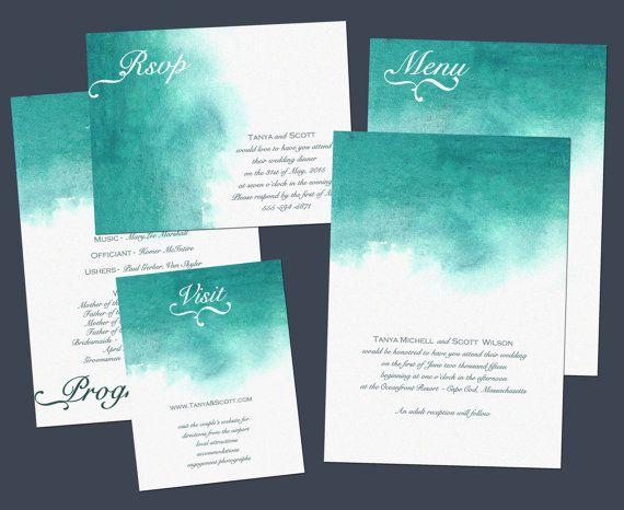 Beach Wedding Theme Invitations to Love 3