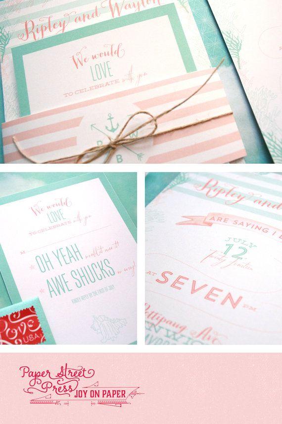 Beach Wedding Theme Invitations to Love 8
