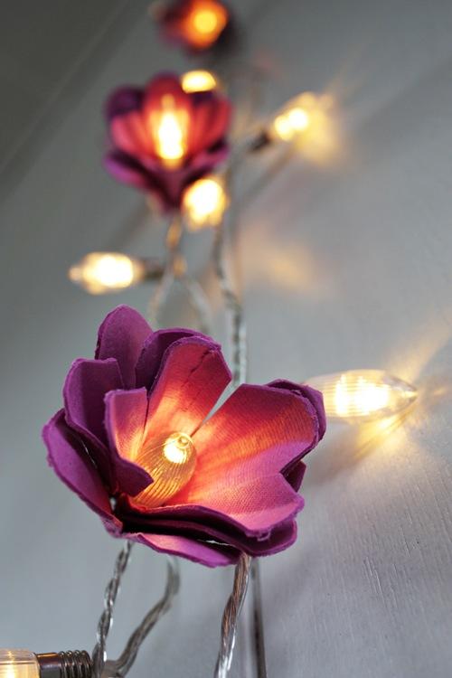 wedding decor light egg carton