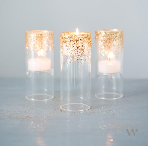 wedding decor light glitter tea