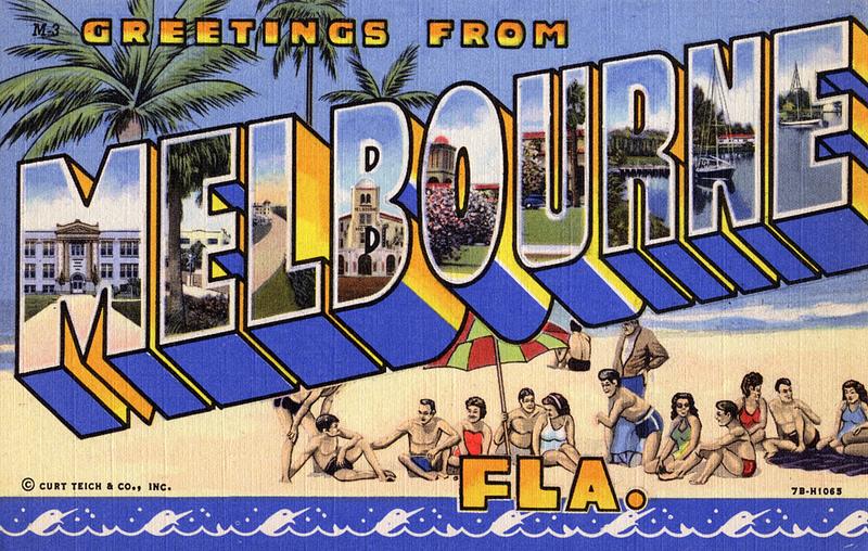Melbourne Florida beachpostcard