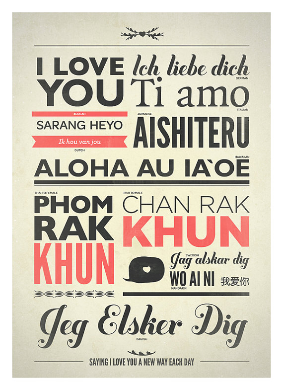 I love you in every language poster