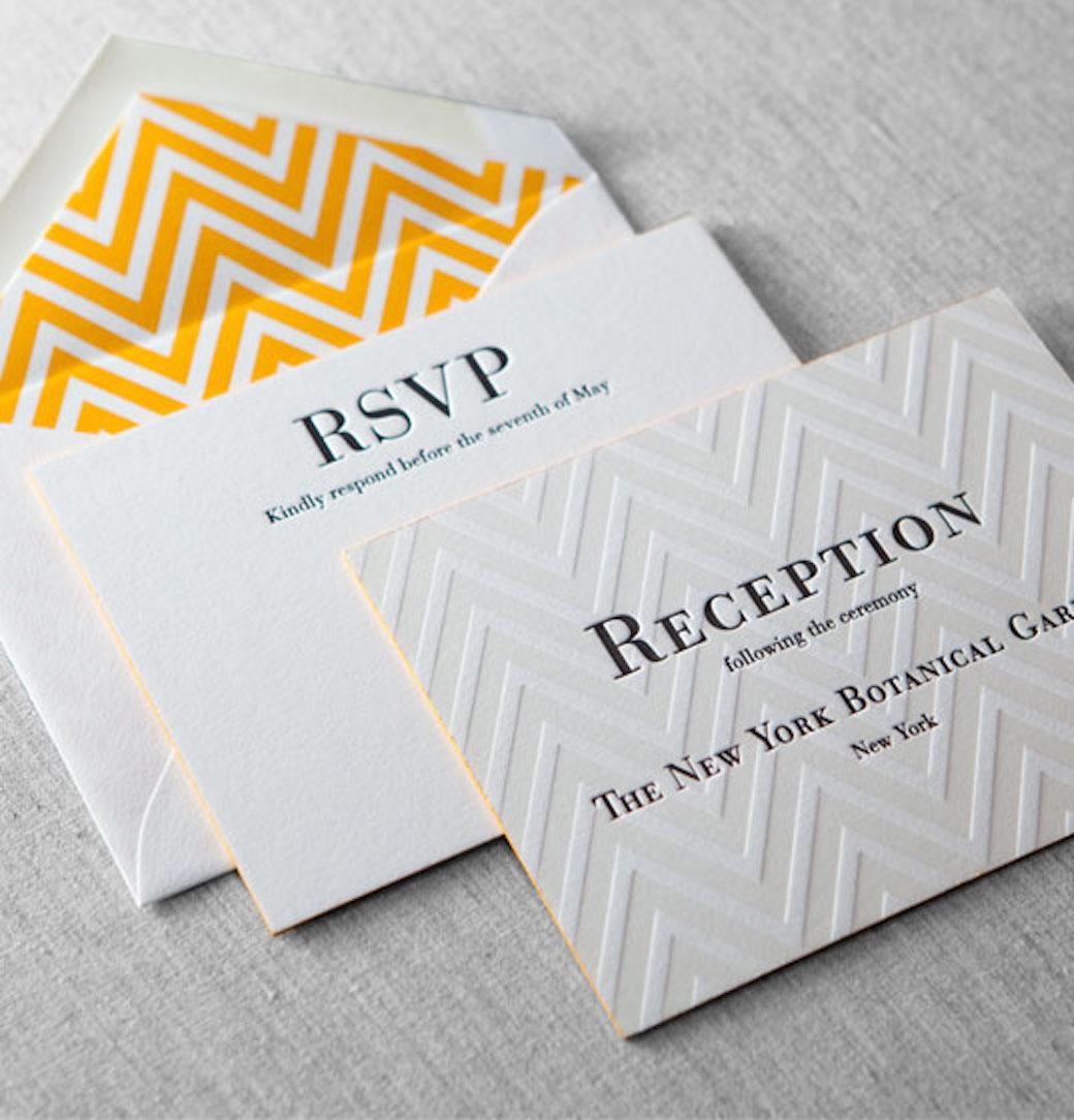 Letterpress Wedding Invitation 2