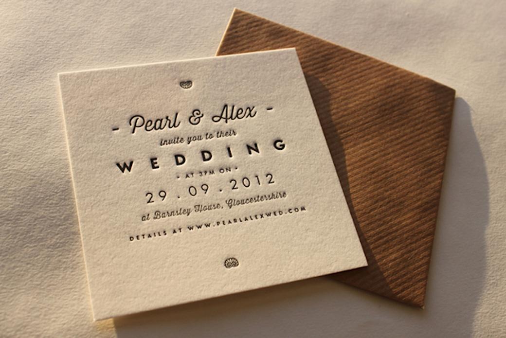 Letterpress Wedding Invitation 3