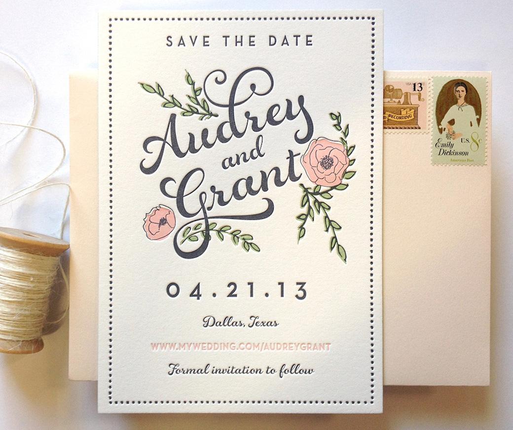 Letterpress Wedding Invitation 4