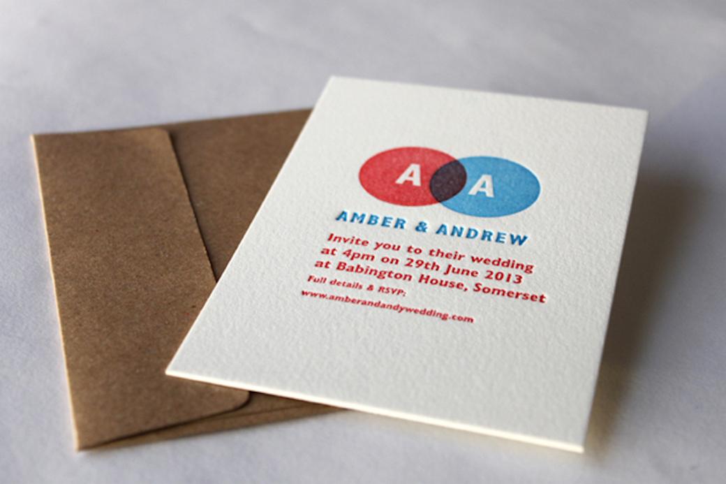 Letterpress Wedding Invitation 5