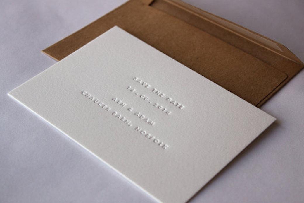 Letterpress Wedding Invitation 6