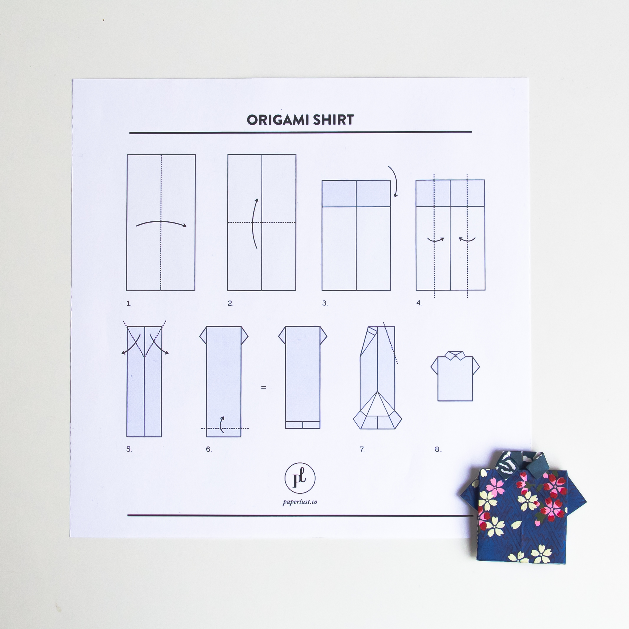 Origami Shirt Cake Toppers