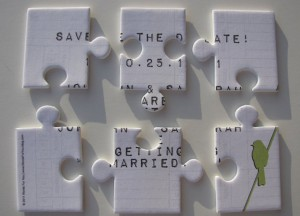 Crafty save the date puzzle