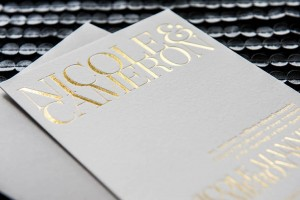 Gold foil wedding invitations 1