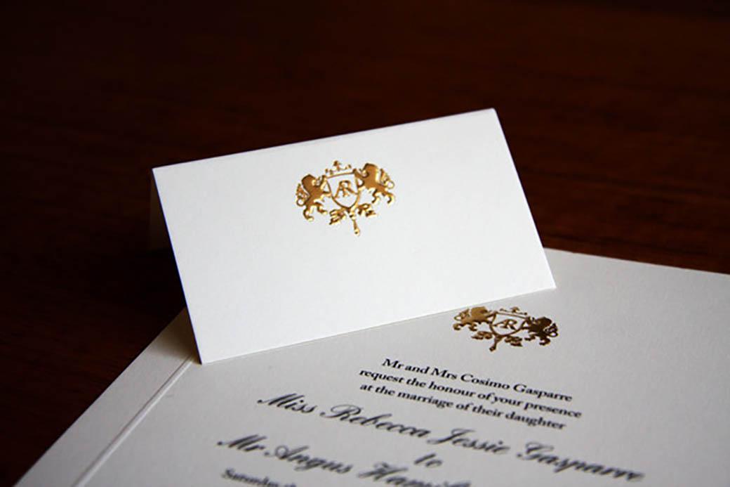 Gold foil wedding invitations 3