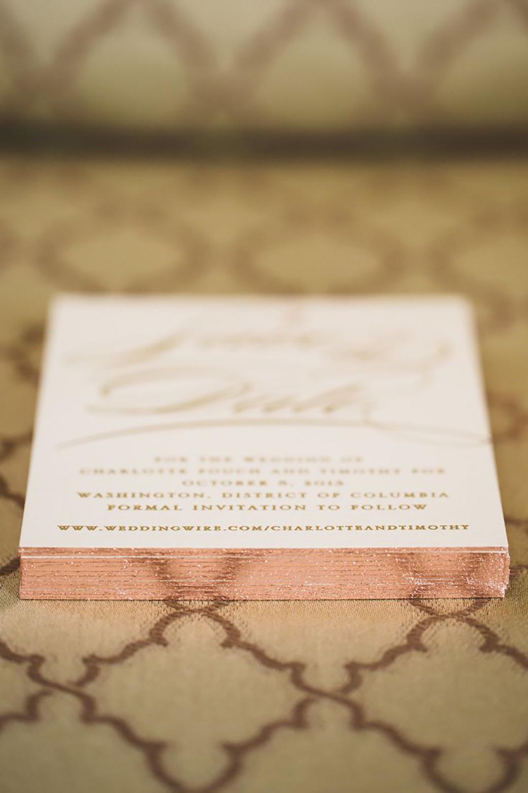gold foil wedding invitations 7