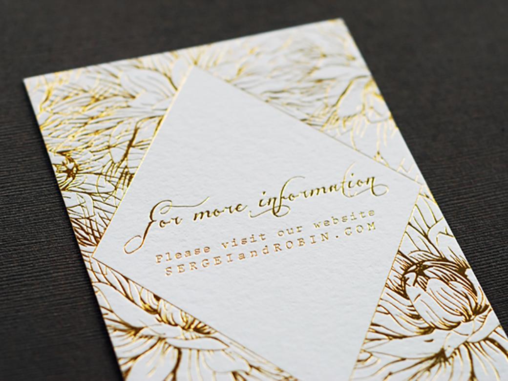 Gold foil wedding invitations 9