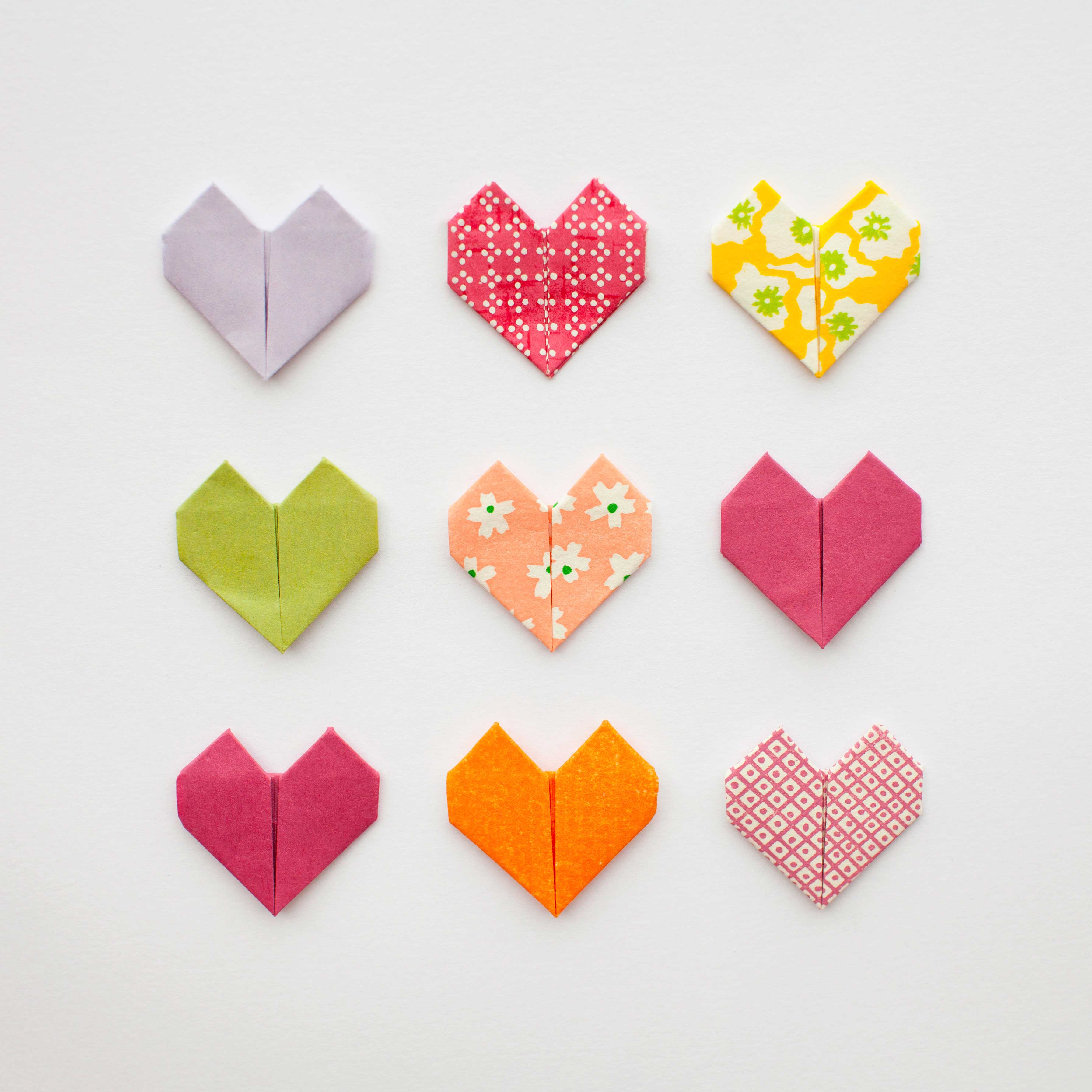 DIY Origami Hearts for Valentines Day