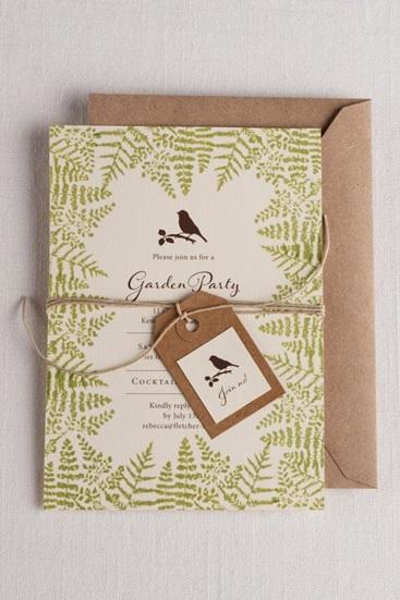 Botanical wedding invitation example 3