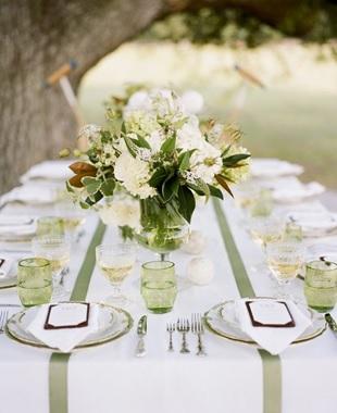 Smoke green wedding example 2