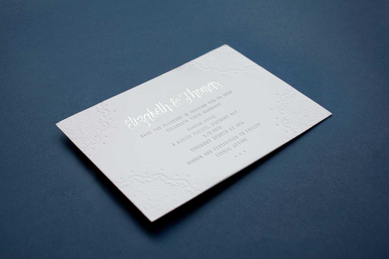 wedding invitation Printing Techniques