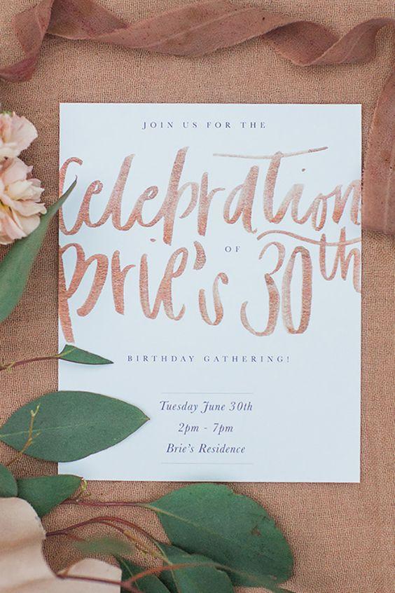 Totally Typographic Birthday Invitation