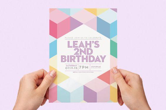 Bold Borders Birthday Invitation