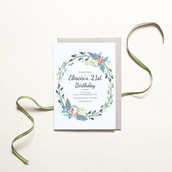 Fancy Floral birthday invitation