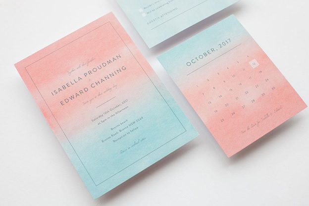 Spring Wedding Invitations ideas: trending colours