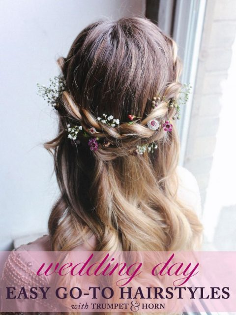 3 Easy Go-To Wedding Hairstyles