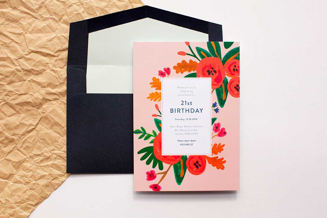 21st birthday ideas: invitation