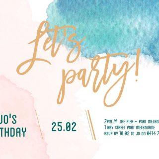 Let's Party birthday invitation templates