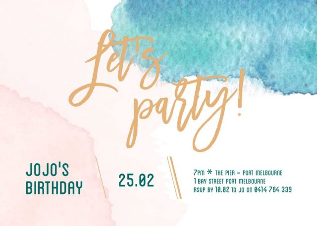Let's Party birthday invitation templates