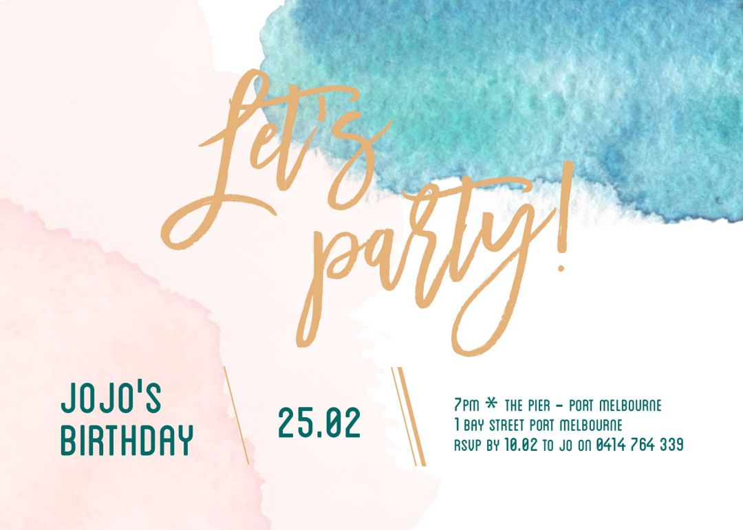 Our top 10 birthday invitation templates for teenagers - Paperlust