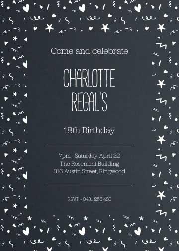 Celebration birthday invitation templates
