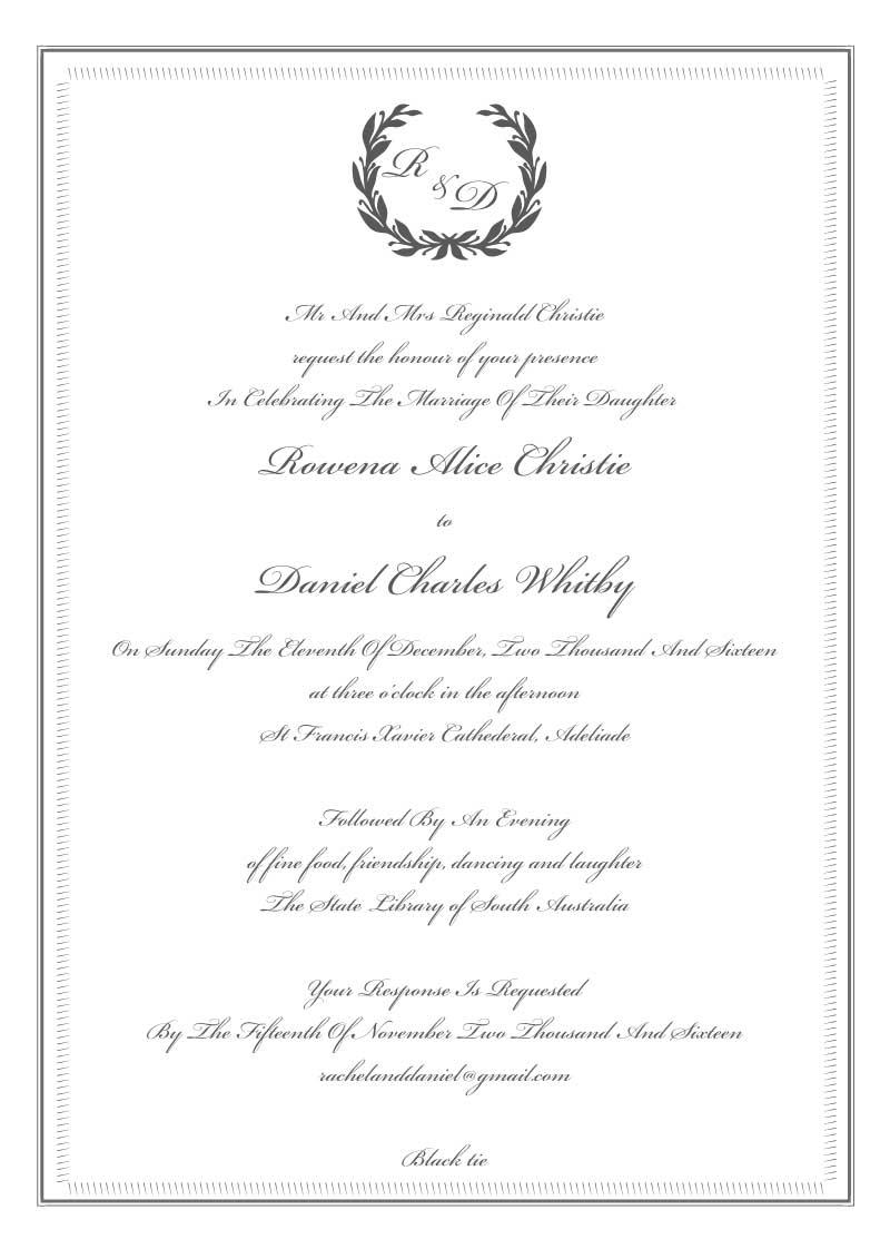 Disney Wedding Invitations- General Disney motifs 1