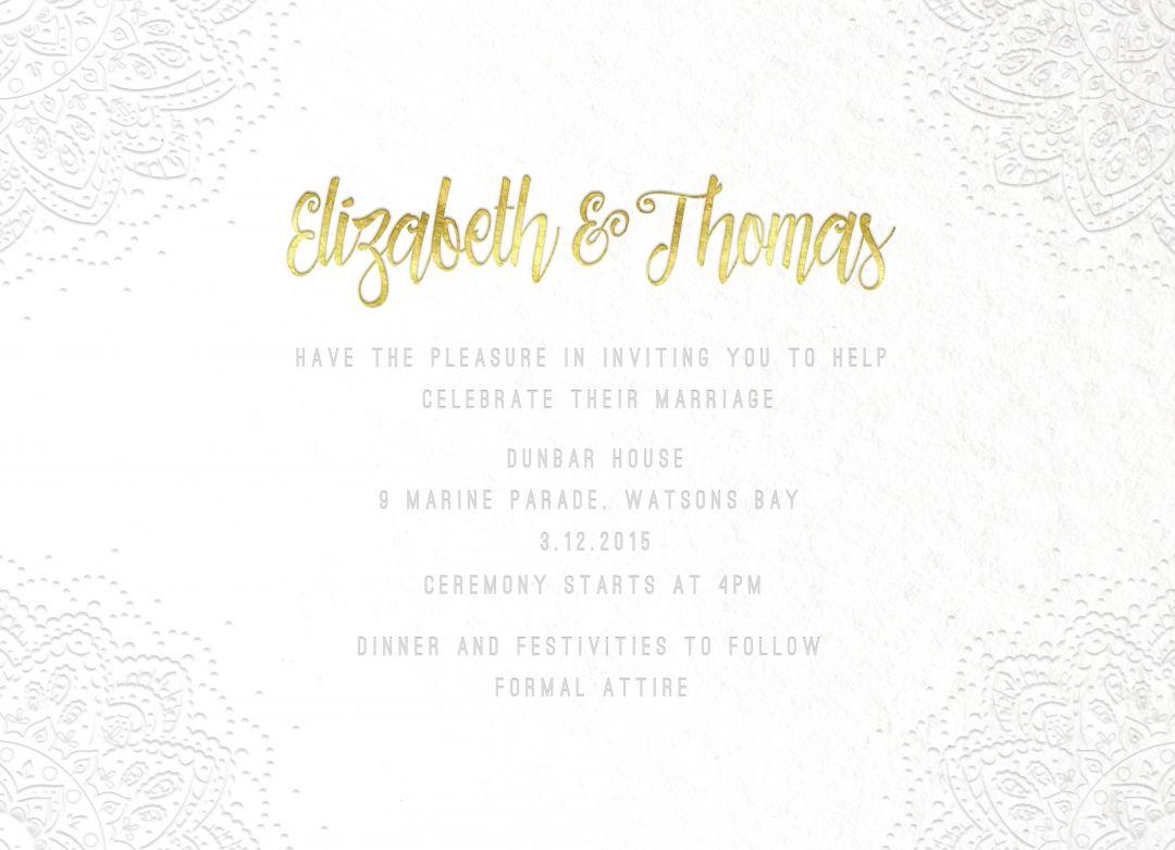 Disney Wedding Invitations- Frozen