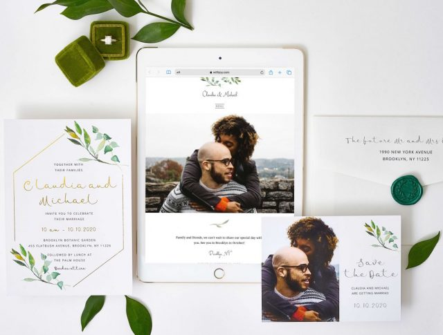Paperlust partners with Joy to bring you free matching wedding websites