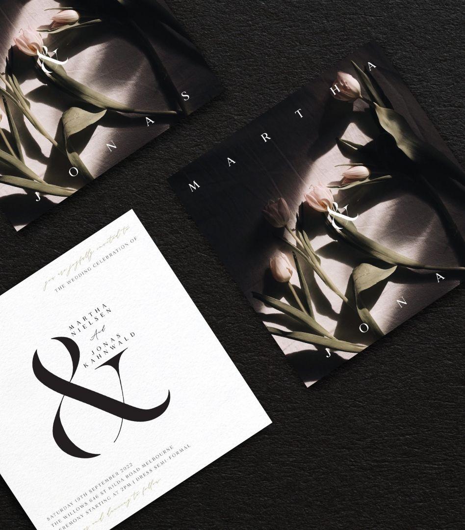 Dark Botanica and wedding invitation fonts