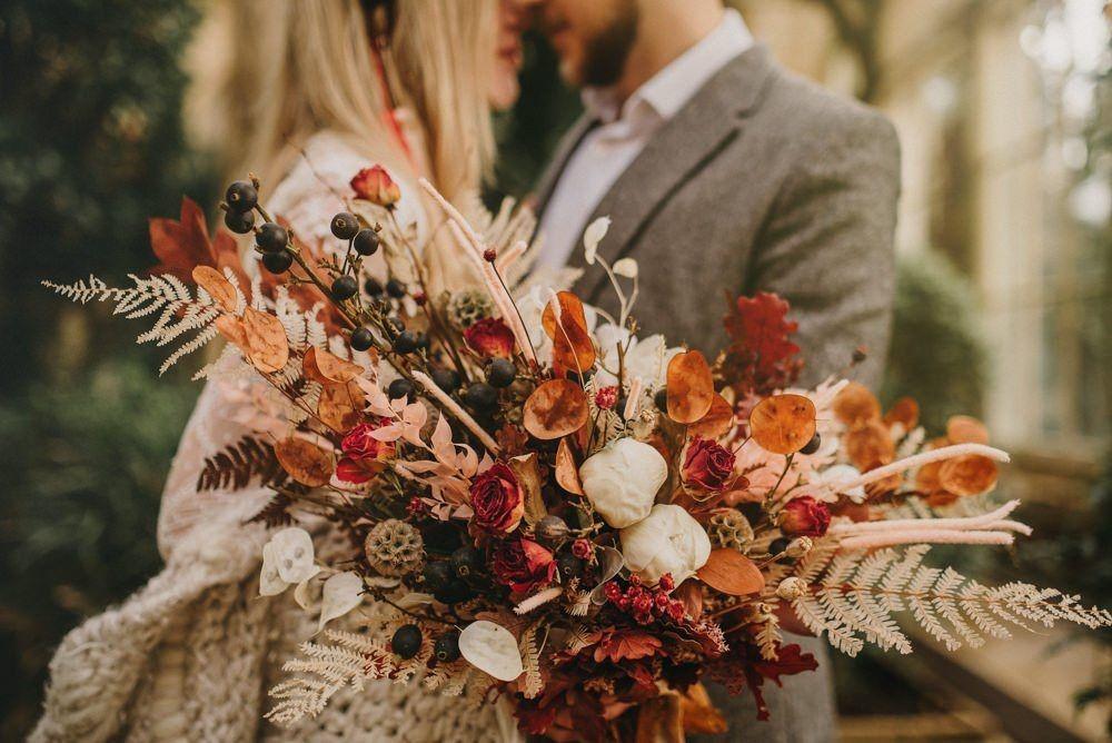Rustic dried flower bouquet