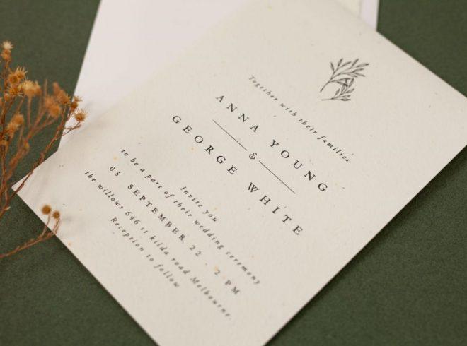 Seed Wedding Invitations